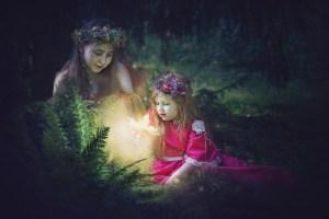 kwiat paproci słowiańska sesja zdjęciowa dziecięca Ezo Oneir