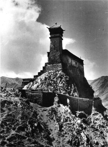 Tibetexpedition, Blick auf Kloster (Yumbu Lagang)