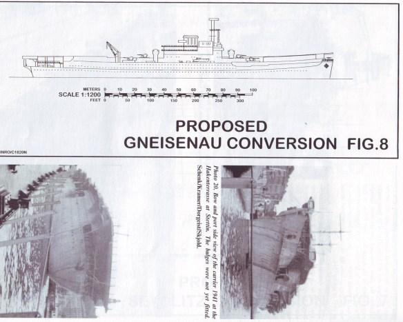 План конверсии лайнера Гнисенау