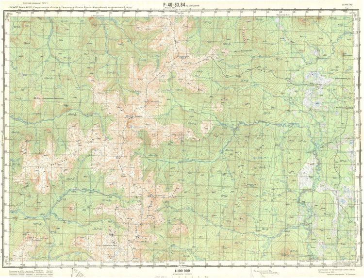 Карта перевала Дятлова