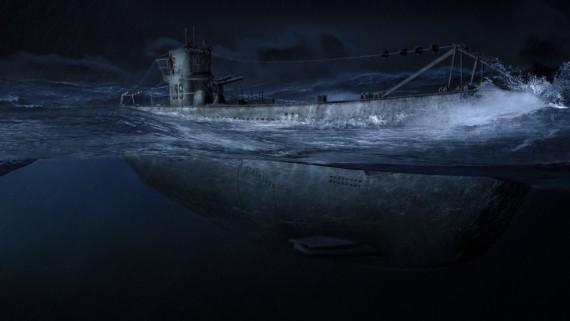 немецкой подводной лодки призрак