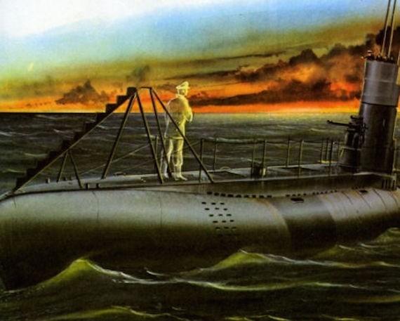 призрак немецкой подводной лодки