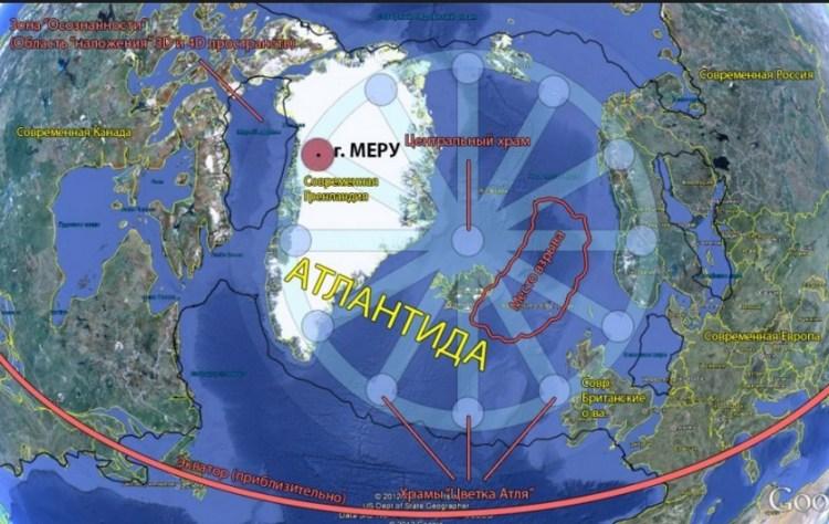 Карта гипербореи