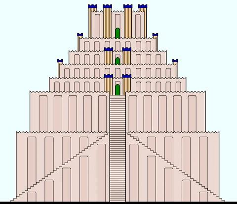 Вавилонская башня схема