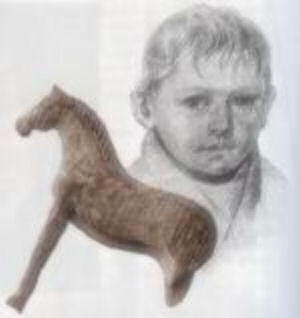 Рисунок и лошадка Каспара Хаузера