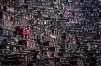 Буддийский монастырь Ларунг Гар мегаполис дхармы