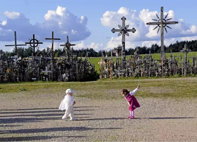 Гора Крестов в Литве находится на месте бывшего городища