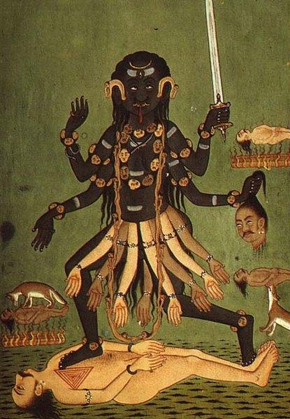 Я как-то приехала в храм богини Кали на берегу Джамны
