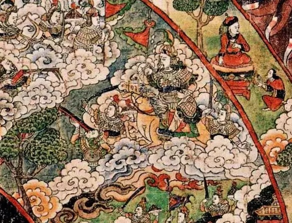 Тибетская тханка зависть