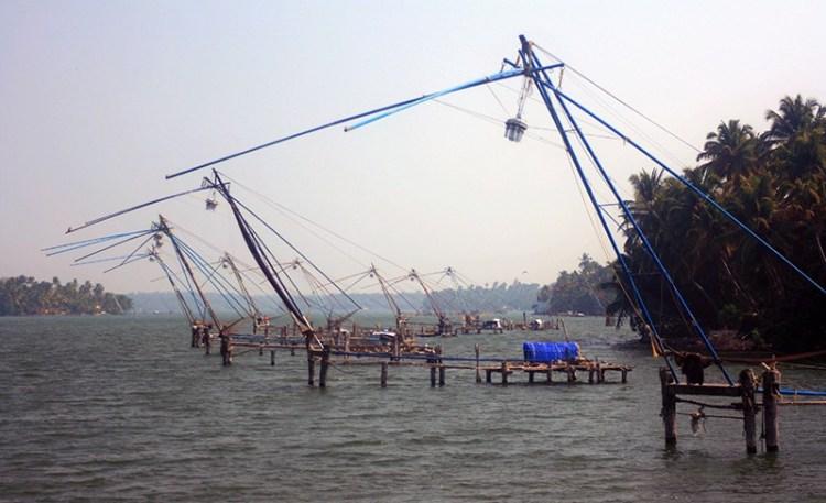Рыбацкие сети в Керале