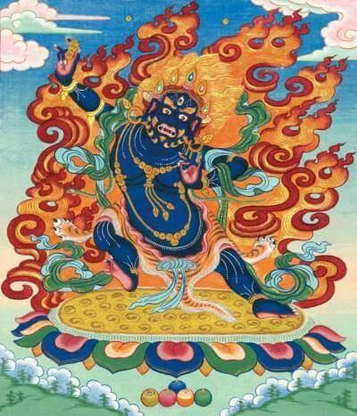 Ваджрапани — в буддизме бодхисаттва. Является защитником Будды и символом его могущества. Широко распространён в буддийской иконографии как один из трёх божеств-охранителей, окружающих Будду.
