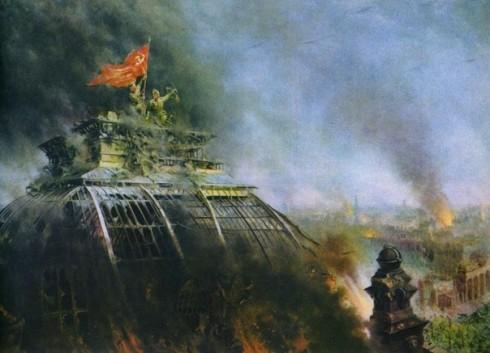 Купол Рейхстага в Москве в парке Зарядье