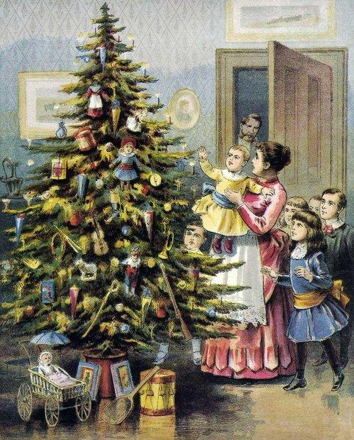 Украшение новогодней ели. Традиция магия дерева из древности