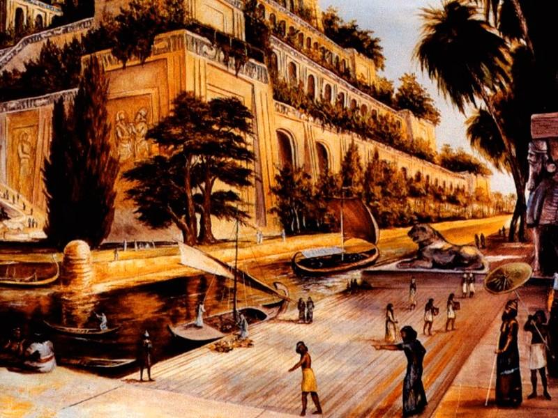Висячие сады Семирамиды Фото в наше время где находятся как выглядели в Вавилоне