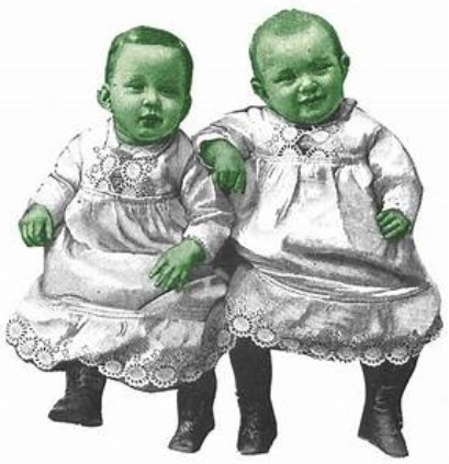 зеленые лица детей