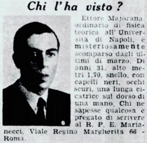 Этторе Майорана статья в газете