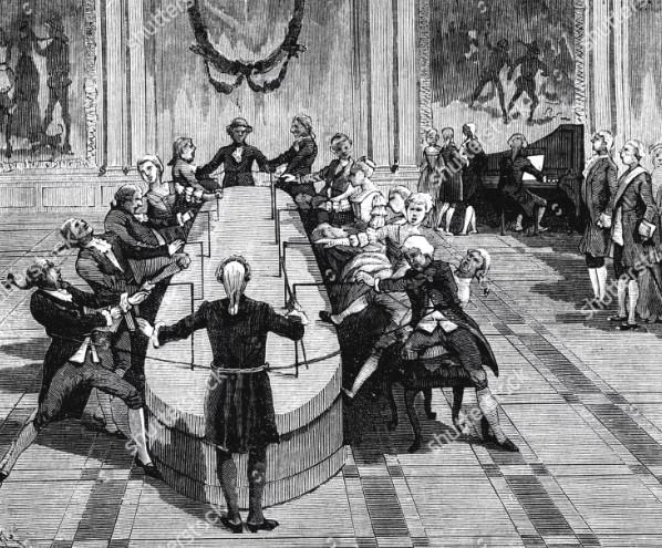 Месмер принимал пациентов в особенном «магнитном зале»