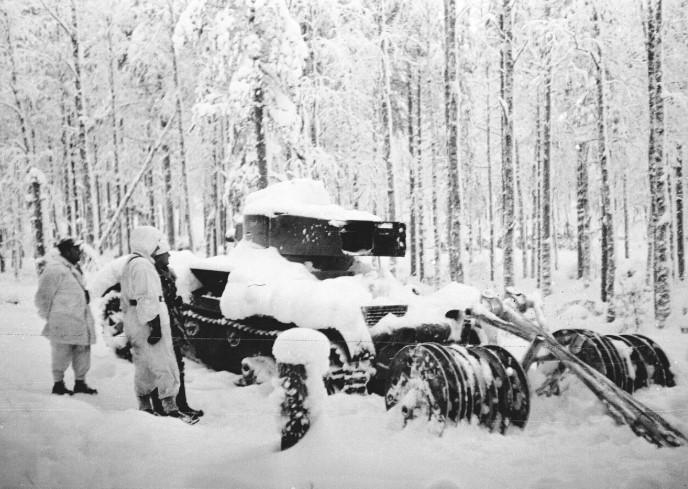 война 1939 года подбитый танк
