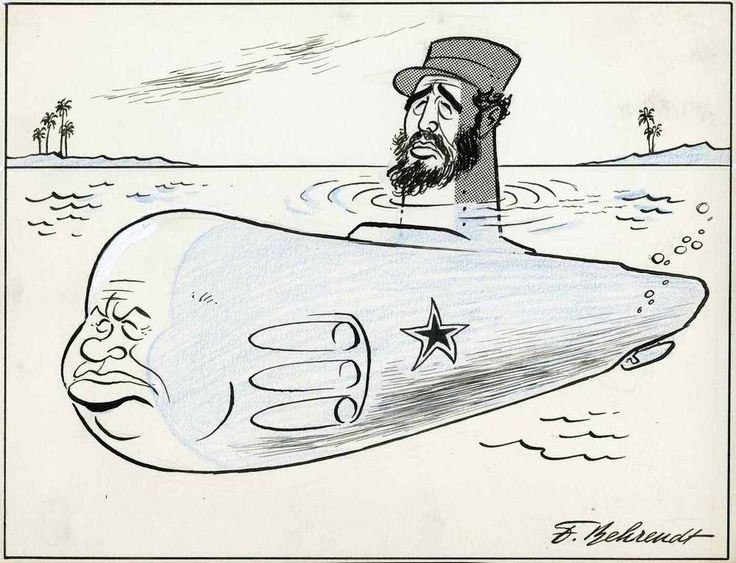 Карикатура на Фидель Кастро