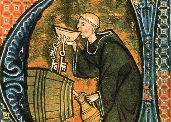 Неумеренность монахов в потреблении вина
