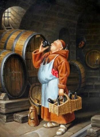 аббат устраивал в монастыре обед, напоминающий воскресный, с четырьмя пинтами вина