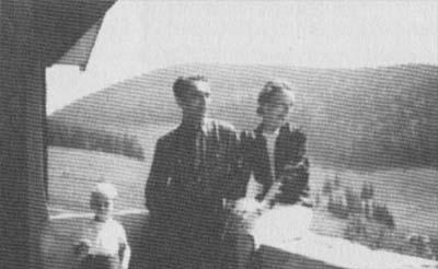 Отто Ран с женой