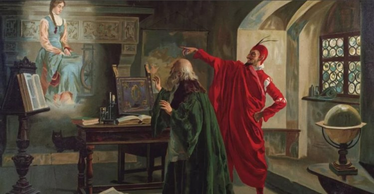 Иоганн Фауст Заключивший Союз с Дьяволом