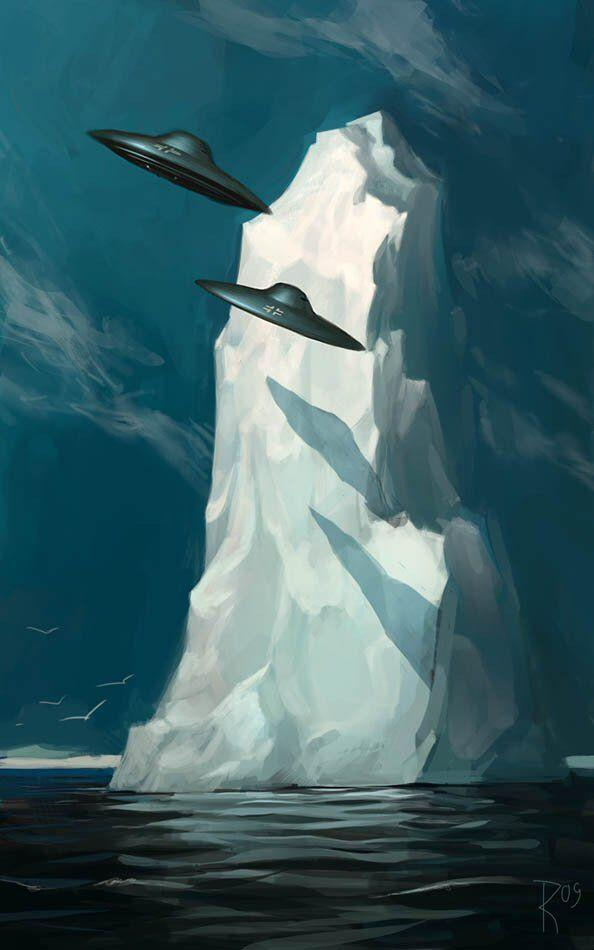 Здесьфюрер перешел на борт подводной лодки, которая взяла курс на Антарктиду