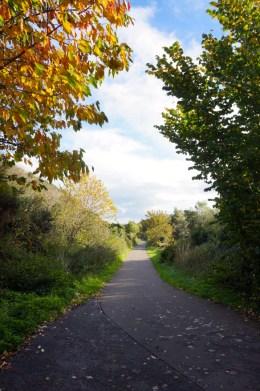 Shooting along the innocent railway cycle path