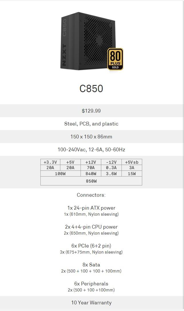np c850m desc 2