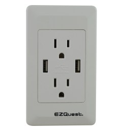 ezquest plug n charge usb wall outlet charger north american power outlet wiring [ 2000 x 2000 Pixel ]