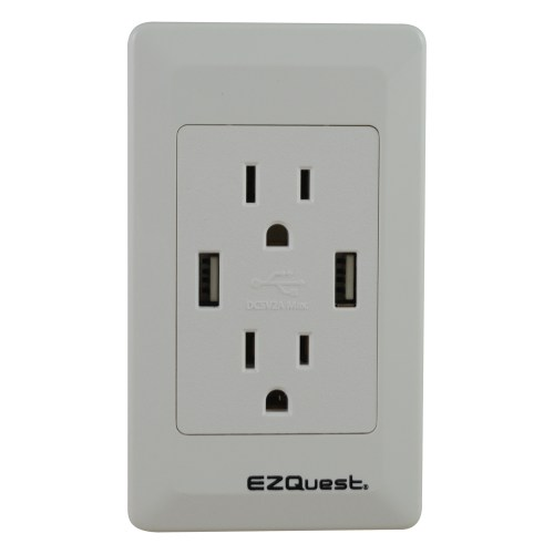 small resolution of ezquest plug n charge usb wall outlet charger north american power outlet wiring