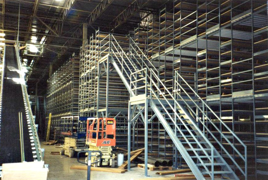 MultiLevel Shelving  EZRect Manufacturing Ltd