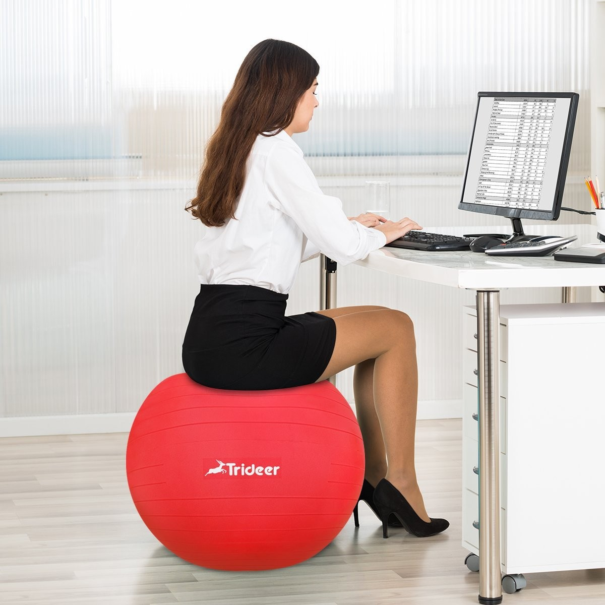 Yoga Ball Desk Chair Trideer Exercise Ball Chair