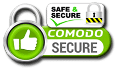 Comodo Safe and Secure Online Shopping SSL Seal