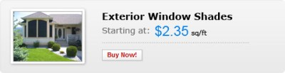EZ Snap Pricing Exterior Window Shades