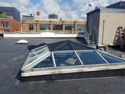 EZ Snap Shade Mesh on Pyramid Skylight – Install – from Jerry Hoeppner