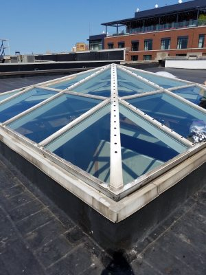 EZ Snap Shade Mesh on Pyramid Skylight from Jerry Hoeppner