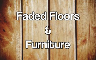 How to Fix the problem of faded floors, carpets and furniture.