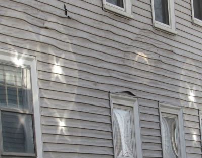 Melted Vinyl Siding Solutions from EZ Snap