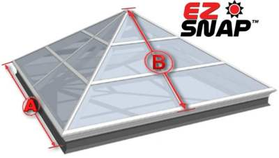 How to Measure Pyramid Skylight for Exterior Shades