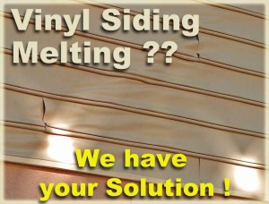Vinyl Siding Melting EZ-Snap Exterior Window Shades