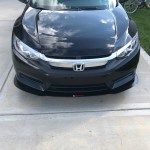 Honda Civic Coupe 16+ front splitter