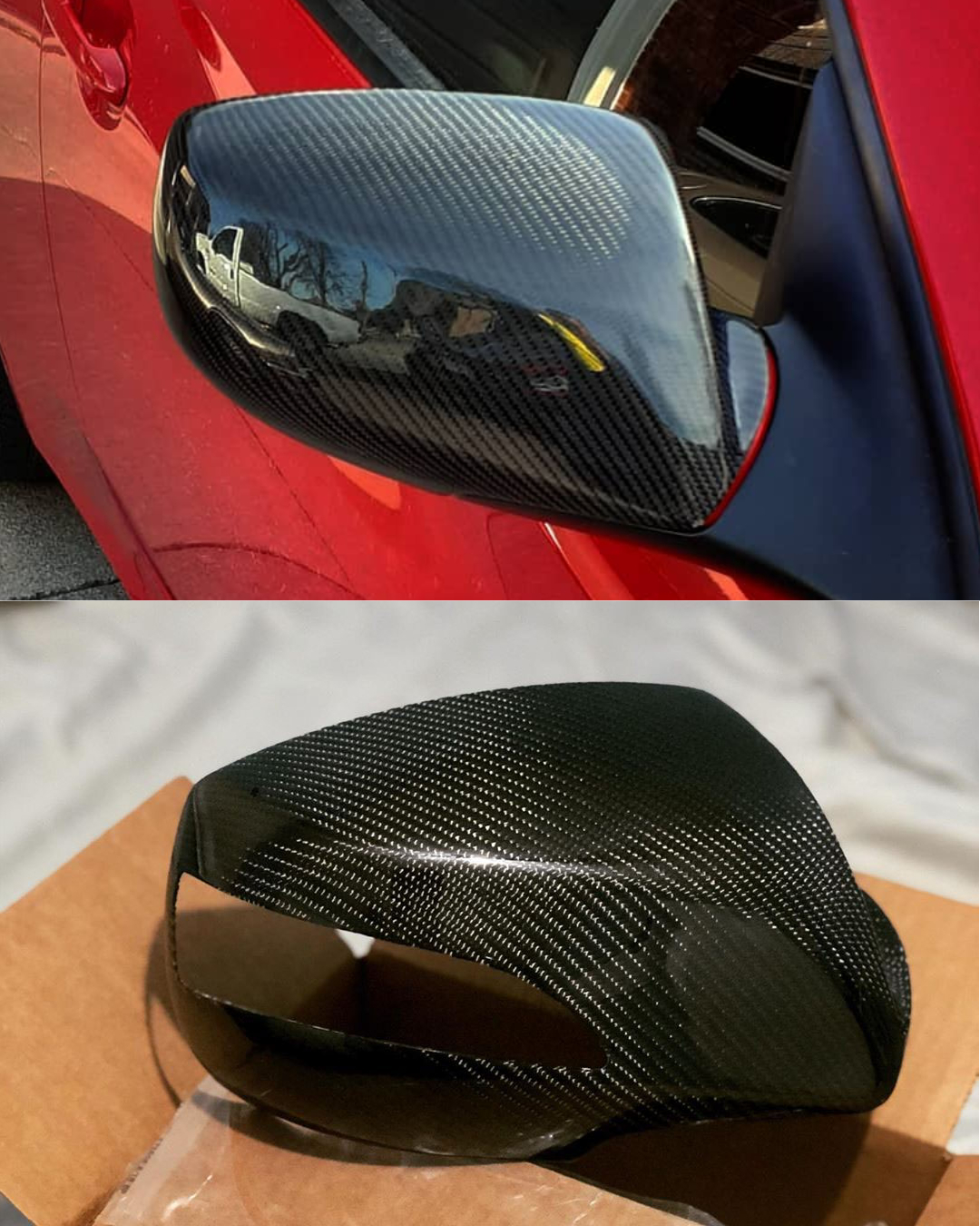 Genesis coupe carbon fiber mirror covers