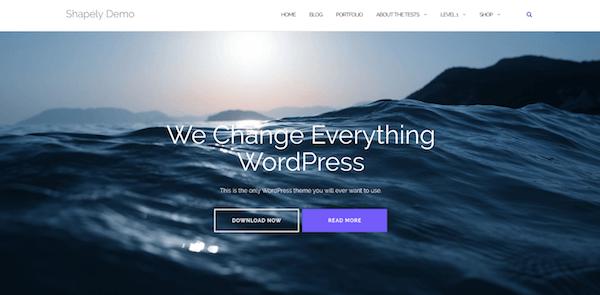 Tema Shapely para WordPress