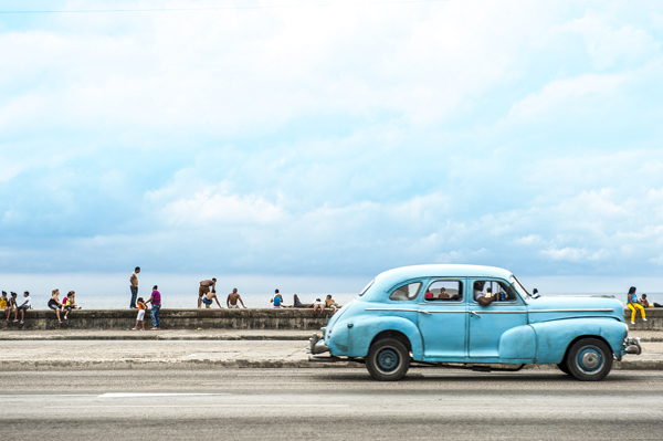 HAVANA, CUBA - MAY 18, 2011: Classic vintage American car servin
