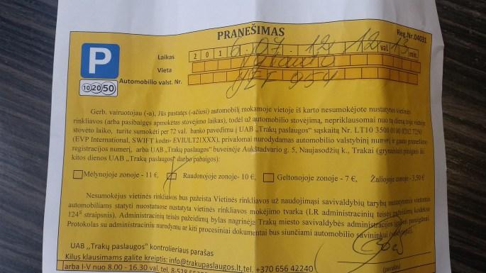 特拉凱(Trakai)停車小插曲 – 馬克背包旅遊趣