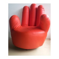 PU Leather Adult size Swivel Hand Chair Finger sofa 1 seat