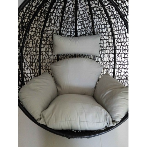 swing chair grey outdoor cushions with ties replacement cushion set for egg pod wicker red - ezy deal australia