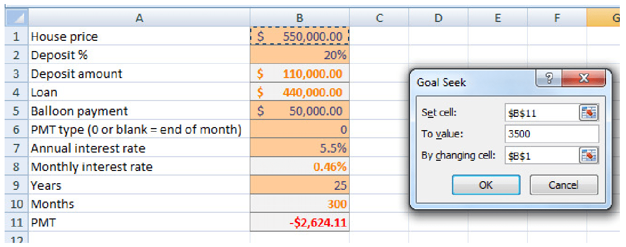 Learn about Goal Seeking in Microsoft Excel Training Course